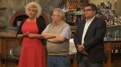 """Seen here with Anne Burrell of Food Network's """"Chef Wanted""""."""