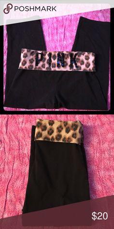💋PINK VICTORIA SECRET💋 Pink Victoria Secret Capri Sz Small. Bling on back. PINK Victoria's Secret Pants Capris