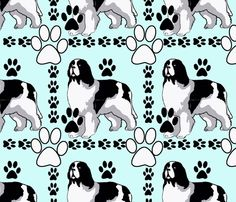 art deco Landseer fabric by dogdaze  on Spoonflower - custom fabric Newfoundland  Dogs f8e37c2a98cb