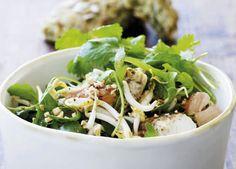 Denne salat hører til de lette og sunde med en enkel frisk dressing
