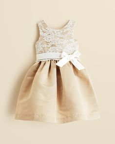 US Angels Infant Girls' Lace Overlay Dress - Sizes 12-24 Months | Bloomingdale's