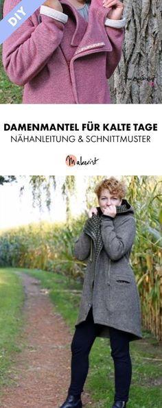 Kurzmantel Sweatmantel pdf.Schnittmuster und Nähanleitung Gr.:34-52