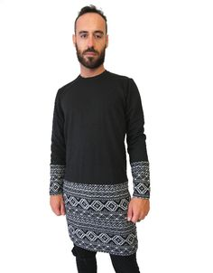 Tribal Print Long LS Tee Unisex Style More info on website #ShopAyo