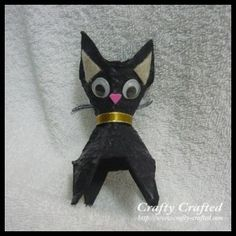 This little egg carton cat is simple enough for a small child to craft successfully. Don't forget the wiggly eyes!