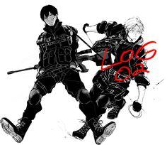 Kageyama Tobio & Sugawara Koushi, Military squad version (Haikyuu - Fanbook)