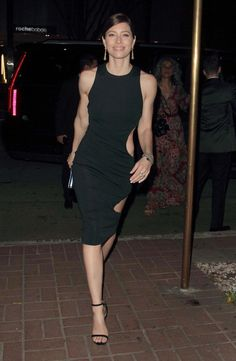 Jessica Biel At Madeo Restaurant In Los Angeles