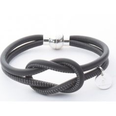 Bracelet cuir Toi Anthracite