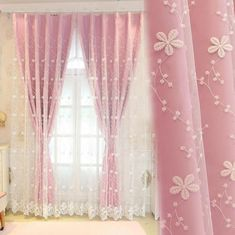 Girls bedroom curtains Pink Tulle Sissy Window Curtains – Sissy Panty Shop Tips on Choosing a Pediat Fancy Curtains, Girls Bedroom Curtains, Cotton Curtains, Drapes Curtains, Curtains Living, Rideaux Design, Curtain Headings, Childrens Bedroom Decor, Stoff Design