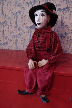 marionette Pantomime marioneta puppet ooak por Etceteramarionetas