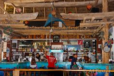 Fido's Restaurant & Bar, San Pedro, Ambergris Caye, Belize. Here Moby's music fell right in place, and tasted the best lobster and frozen margarita's ever!!
