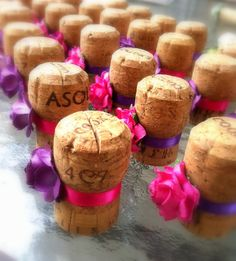 Unique Champagne Cork Weddings Table by KarasVineyardWedding