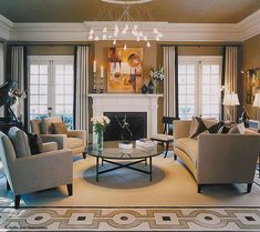Living Room Perfection. Schelfe Assoc.