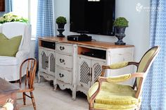 Again, this is chalk paint.  Love it!  Also repurposed furniture!