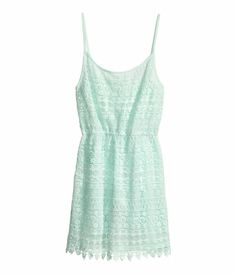 Mint green lace dress. HM. #PARTYINHM