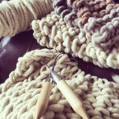Fat Wool Co projects in progress today!