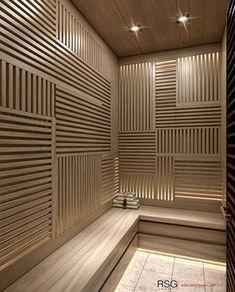 Home Spa Room, Spa Rooms, Saunas, Mini Sauna, Sauna Lights, Indoor Jacuzzi, Sauna Design, Spa Interior, Sauna Room