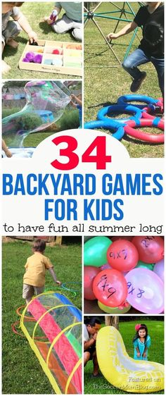 No one will be bored this summer with this huge collection of DIY Outdoor Games for Kids! Tons of creative & thrifty boredom busters: scavenger hunts, water play, DIY backyard obstacle courses & more! Diy Outdoor Toys, Outdoor Water Games, Outdoor Toys For Kids, Water Games For Kids, Summer Activities For Kids, Summer Kids, Toddler Outdoor Games, Outside Kid Activities, Outdoor Summer Games