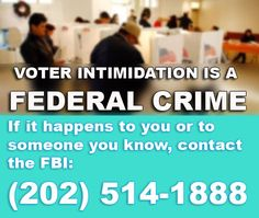 Report Voter Intimidation / https://sphotos-b.xx.fbcdn.net/hphotos-snc6/225956_533608659999504_1552484318_n.jpg