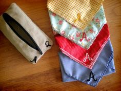 Monogrammed Handmade Handkerchief How To #CraftCultureCo #Love #DIY #Gifts #Homemade