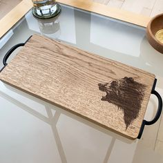 Wooden Bear Serving Board by Urban Twist, the perfect gift for Explore more unique gifts in our curated marketplace. Incredible Gifts, Bear Design, Serving Board, Old Wood, Solid Oak, Kitchen Accessories, Unique Gifts, Woodworking, Edinburgh