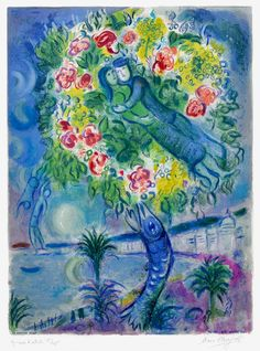 Marc Chagall, Couple et Poisson (Couple and Fish), From Nice and the Cote d'Azur, 1967