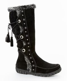 Look at this Bucco Black Noelas Wide-Calf Boot on #zulily today!