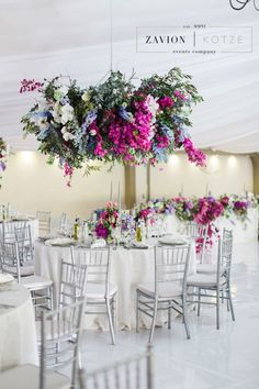 Greek themed wedding with beautiful pastel colours, colors, hanging arrangements, delphiniums, orchids, hydrangeas, roses, bougainvillea, suspended florals, Zavion Kotze Delphiniums, Hydrangeas, Greek Wedding, Our Wedding, Pastel Colours, Colors, Wedding Inspiration, Wedding Ideas, Event Company
