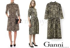 Danish Crown Princess Mary wears  GANNI Schiffer Glitter Dress www.newmyroyals.com