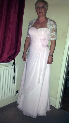 REDUCED Pink Bridal/Bridesmaid Dress and Ivory Lace Jacket For Sale in Northwich, Cheshire