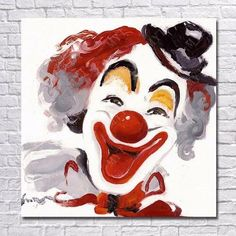Clown Paintings, Cute Canvas Paintings, Funny Paintings, Tableau Pop Art, Oil Painting Pictures, Send In The Clowns, Evil Clowns, Cartoon Pics, Abstract Wall Art