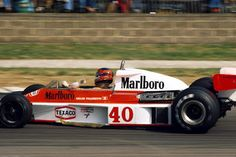 Joseph Gilles Henri Villeneuve (CAN) (Marlboro Team McLaren), McLaren M23 - Ford-Cosworth DFV 3.0 V8 (finished 11th) 1977 British Grand Prix, Silverstone Circuit © McLaren Racing Ltd. / Sutton Images