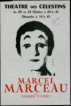 Le mime Marceau, spectacle en 1976