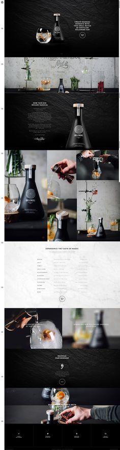 Site officiel de la célèbre marque de Gin Gillemore qui présente un webdesign onepage parallax immersif avec un webdesign épuré, sobre mais très efficace avec l'utilisation de superbes photos qui subliment le produit et son univers de marque.