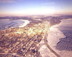 The isthmus from above #Madison (photo by UW Med Flight)