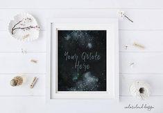 custom quote printable chrismas wall art printable wall decor
