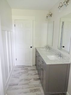 Classic white bathroom designs clean classic farmhouse bathroom remodel sharing all the sources of classic black Classic White Bathrooms, Classic Bathroom, Grey Bathrooms, Spa Bathrooms, Bathrooms Online, Mold In Bathroom, White Vanity Bathroom, Small Bathroom, Bathroom Photos