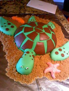 Sea Turtle Cake!