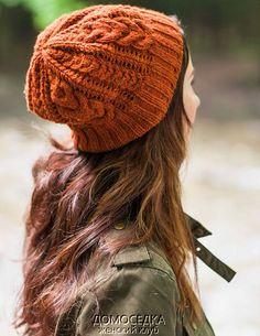 Вязание шапки с косами