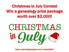 Christmas in July Contest – Win a $2,000 Genealogy Bundle