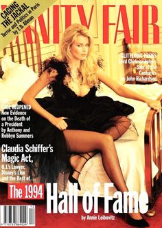 Claudia Schiffer Fashion Mag, 90s Fashion, Vintage Fashion, Vanity Fair Magazine, Kim Basinger, 90s Models, Most Beautiful Models, Princess Caroline, Claudia Schiffer