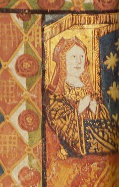 Katherine of Aragon, 1511    Detail of Katherine of Aragon from the Westminster Tournament Roll which illustrates the two-day tournament that was held to celebrate the birth of Katherine and Henry VIII's short-lived son, prince Henry (February 1511).