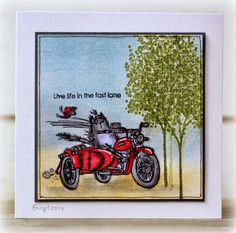 a fun card by Birgit