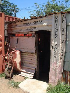 A typical township barber shop, South Aftrica. Beauty Around The World, Around The Worlds, Sa Tourism, World Poverty, Slums, African Culture, Countries Of The World, Barber Shop, Pretty Pictures
