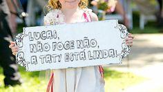 Placas de Lá Vem a Noiva | Dicas para Casamento, Vestidos de Noiva, Lua de Mel e muito mais