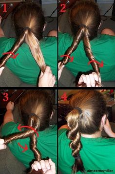 Rope Braid Tutorial- always looking for new ways to fix my daughters hair Braided Hairstyles For Wedding, Braided Hairstyles Updo, Casual Hairstyles, Braided Updo, Pretty Hairstyles, Updo Hairstyle, Updos, Hair Health And Beauty, Hair Beauty