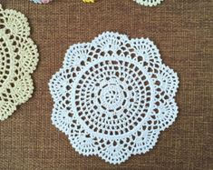Set of 6 pcs Color options Floral hand crochet by LynnLakeWorkshop