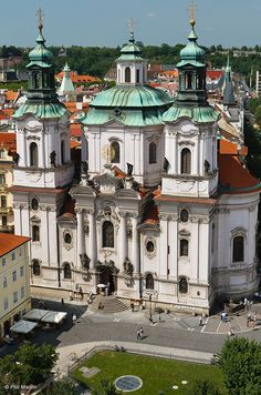 Baroque architecture of St. Nicholas Church – Prague
