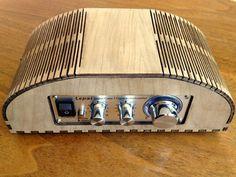 Create a small laser cut amplifier (enclosure) #laser_cutting #decor #home