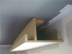 soffit for ductwork w/ cove lighting: