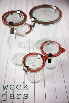 Weck Jars..These would be better than the current masons that I'm using